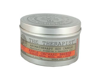 Scented Soy Candle < No. 011 Vintage Grapefruit Ginger>- Hand Poured - Highly Fragrant - 6 oz - Tin Can