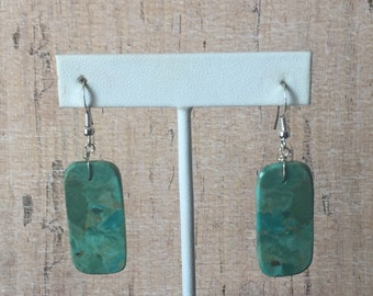 Southwestern Native American Green Turquoise Earrings