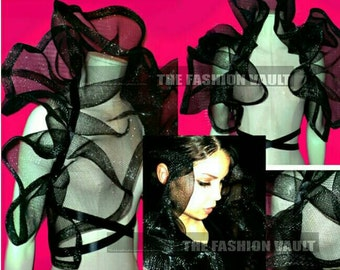 Cosplay Gothic fashion Dramatic Burlesque Net Collar Shoulder collar Perfect for costume photo prop Carnival Mardi gras