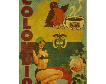 COLOMBIA 2FS- Handmade Leather Journal / Sketchbook - Travel Art