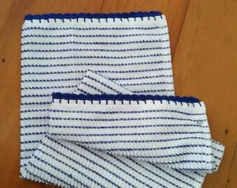 Tea Towel  - Blue and White  Stripes