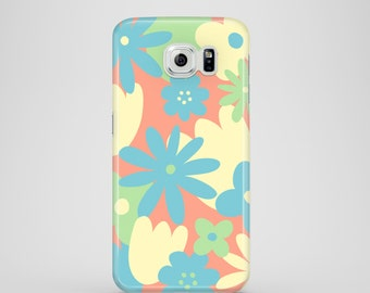 Pastel Floral mobile phone case / Samsung galaxy S7, Samsung galaxy S6, S6 Edge, Galaxy S5, iPhone X, iPhone 8, iPhone 7, iPhone 6S/6, SE, 5