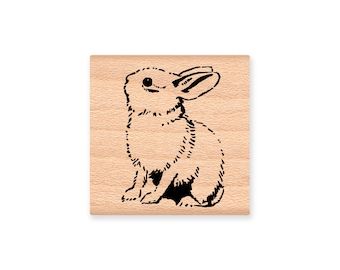 BUNNY-wood mounted rubber stamp-(MCRS 30-06)