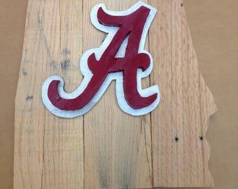 University of Albama logo wood sign,