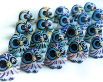Owl Figurine, Figurine, ceramic figurine, animal figurines, owl sculpture