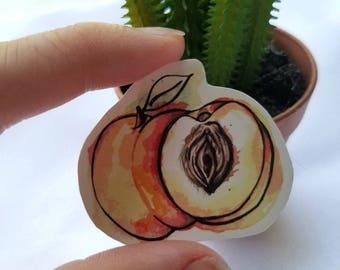 Just Peachy Sticker| Vagina| Female| body posi