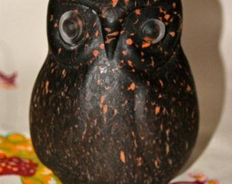 Beautiful vintage glass Boda Sweden owl