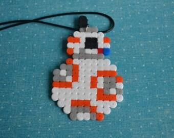 Perler bead Star Wars inspired bb8 earrings or pendant