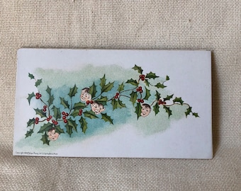 "Christmas Card with Holly and ""Elf"" Berries"