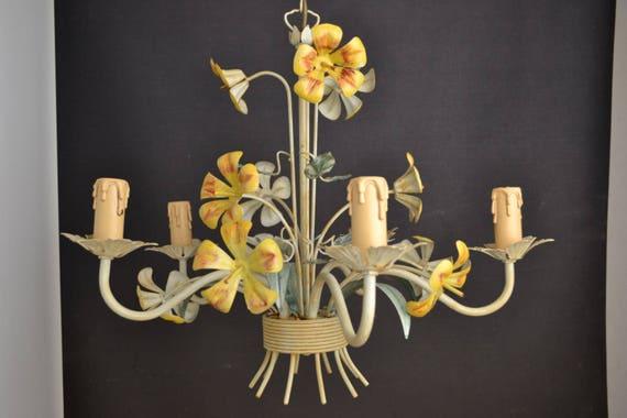 Vintage Italian toleware chandelier