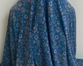 17-313 Printed Onionskin Knit Wedgwood Blue and Purple - Sold by the Yard