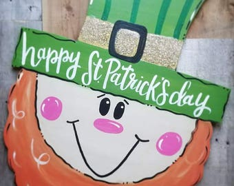 Leprechaun Door hanger St. Patrick's day decor