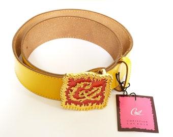 Christian LACROIX * beautiful and authentic Christian LACROIX vintage belt