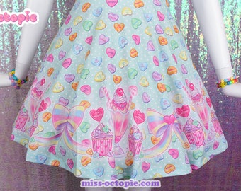 "Mint ""Lovely Candy Heart"" Skirt"