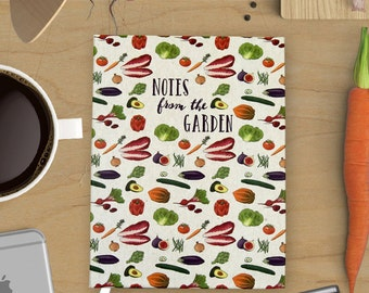 Blank Notebook Journal: Notes from the Garden with Various Vegetable Illustrations