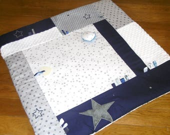Play 100 * 100 Navy Blue, white and gray