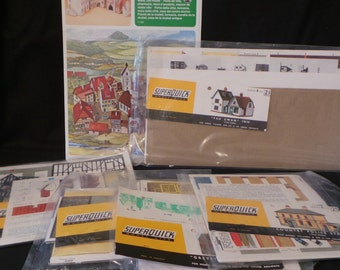 SALE Lot Of Vintage SuperQuick Model Houses Buildings HO Model Railroad Decor Accessories England