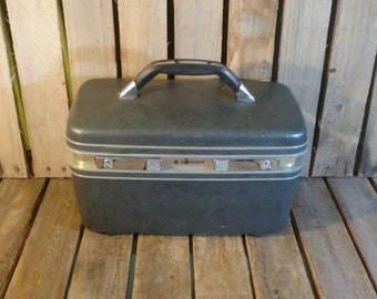 Vintage Makeup Box, Small Samsonite Suitcase