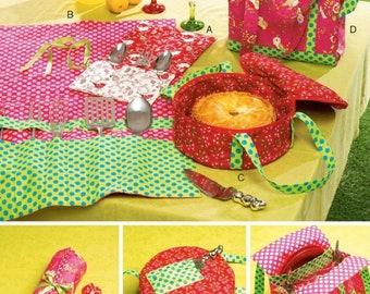 CAMPER RV PICNIC Sewing Pattern ~ Storage & Organizing Items 6974