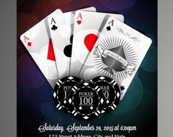 HOLIDAY SPECIAL Casino Party Invitations, Casino Birthday Invitation, Casino, Poker- Instant Download