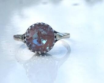 Rare Antique Victorian  Saphiret 9ct Gold Ring