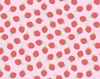 ON SALE Butterflies & Berries by RBD Designs Pink Strawberries