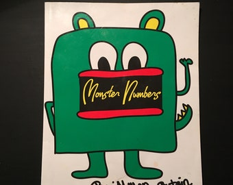 Monster Numbers Coloring Book