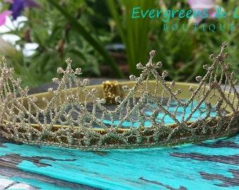 Newborn Gold Lace Crown Headband