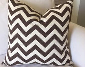 Chocolate Chevron Pillow