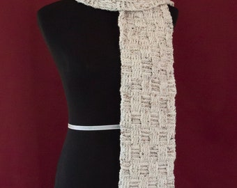 Thick Mens Winter Basketweave Scarf
