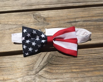 Men's American flag bow tie