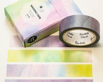 Masking Washi tape/watercolor Soft pastel/7 m x 15 mm