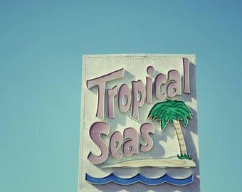 Historic Motel Sign, Beach Decor, Beach Decor, Cottage Chic Art