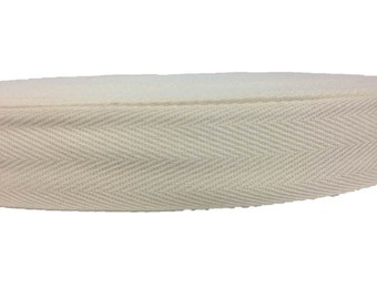 Cotton Twill Tape 60 yards 1 inch Wholesale Herringbone Straps Binding Natural