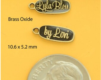Brass Oxide metal custom jewelry tags