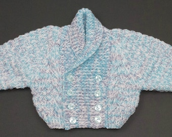 Boy's Shawl Collar Cardigan