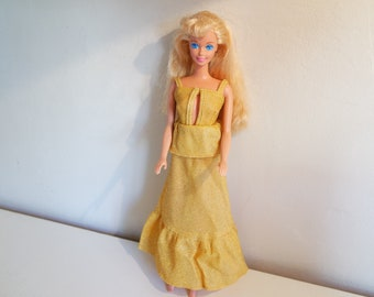 Vintage 80s Mattel Malaysia evening gown Barbie doll