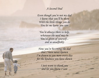 Personalized Poem A Second Dad