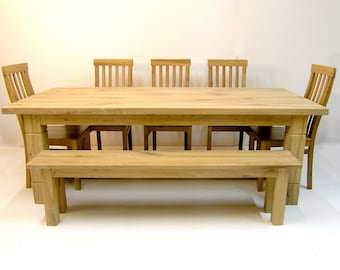 Sustainable Oak Refectory Dining Table