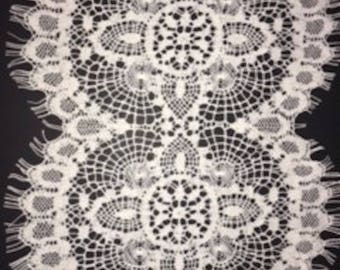 pattern 2042 cotton cluny lace 8.5 inches wide sold by the lineal yard