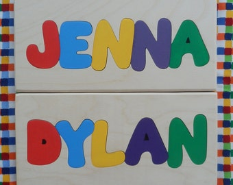 Personalized Name Puzzle 1 to 5 Letter Name, Children Name Puzzle, Name Puzzle, Personalized Name, Personalized Puzzle, Children Puzzle