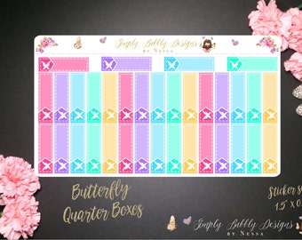 """Butterfly """"Littles"""" Quarter Boxes - Planner Stickers"""