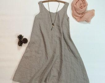 Light Linen Slip / Dress Extender / Nightgown / Underwear / Petticoat