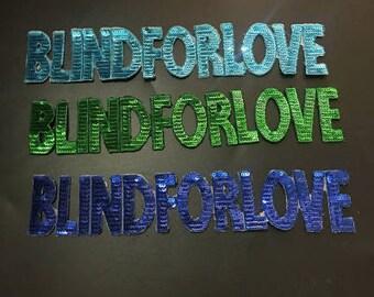 Blind for love Sequined Applique Patch,Paillette Patch,Sequins Patch Supplies for Coat,T-Shirt,Costume Decorative Sequin Patches