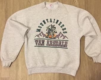 Vintage 90's Elementary School Mascot Sweater Colorado Small