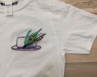 Gord Downie Tragically Hip hand-embroidered shirt
