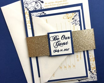 SAMPLE Beauty and The Beast Themed Wedding Invitations