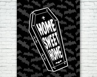 HALLOWEEN SIGNS - Home Sweet Home - Black