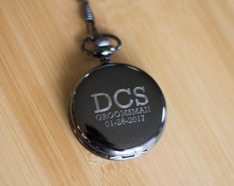 Personalized Pocket Watch as groomsmen gift or wedding party, groomsman gift. Pocket Watch for groomsmen personalized gift as best man gift.