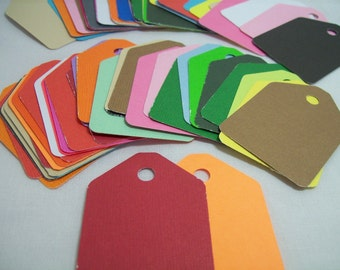 Gift Tags, Wedding Tags, Set of 50, Color Tags, DIY Tags, Jewelry Tags